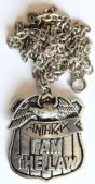 Anthrax - 'I Am the Law' Cast Metal Pendant